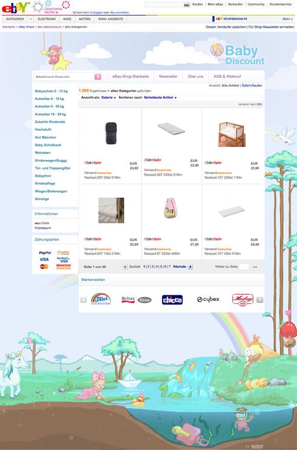 Babydiscount ebay template ebay shop template f r - Kinderzimmermobel ebay ...
