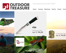eCommerce und Webdesign für Outdoor-Treasure