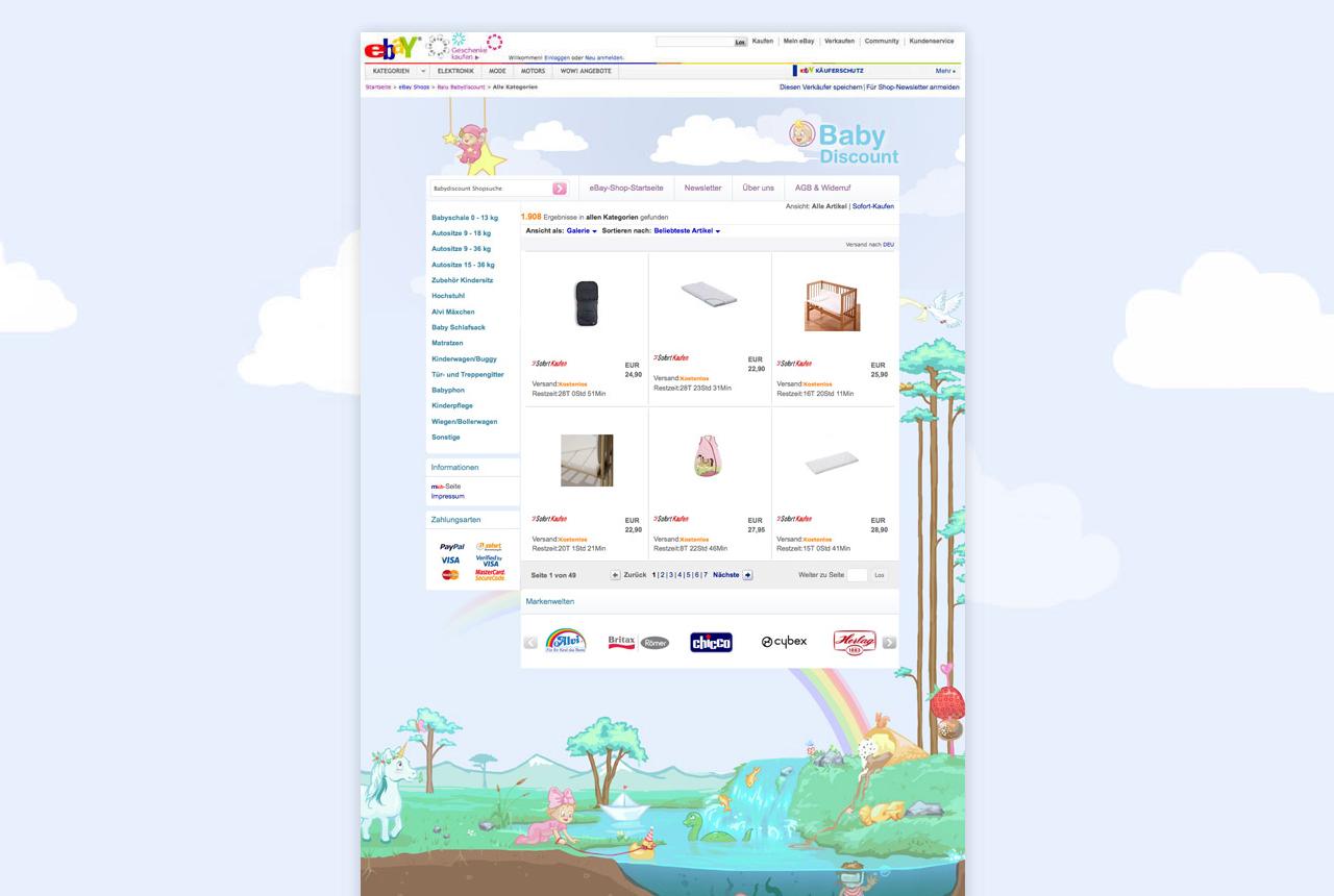 babydiscount ebay template ebay shop template. Black Bedroom Furniture Sets. Home Design Ideas